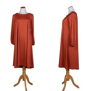 1970s TRUE VINTAGE RUST COLORED TUNIC DRESS